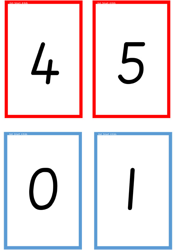 Number and Picture Cards 0 - 5