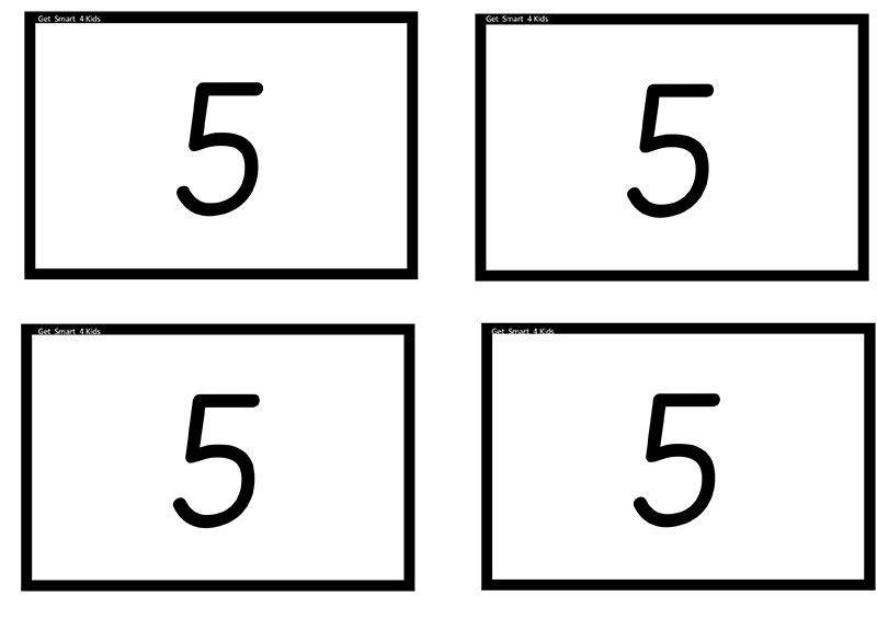 Number Cards 0 - 5